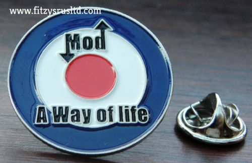 Mod A Way of Life Lapel Hat Tie Pin Badge RAF Mods Target